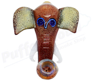 "6"" Elephant Head Hand Pipe - Puffer Cloud 