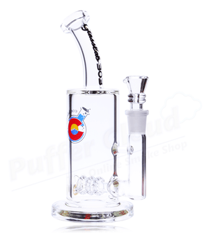 "8"" Triple Shower Head Perc Inline Rig By Glasslab 303 - Puffer Cloud 