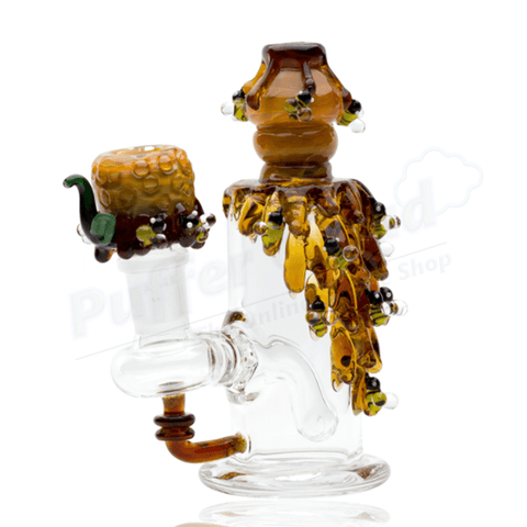 Drippy Bee Hive Nano Rig Water Pipe By Empire Glassworks - Puffer Cloud | The Online Smoke Shop