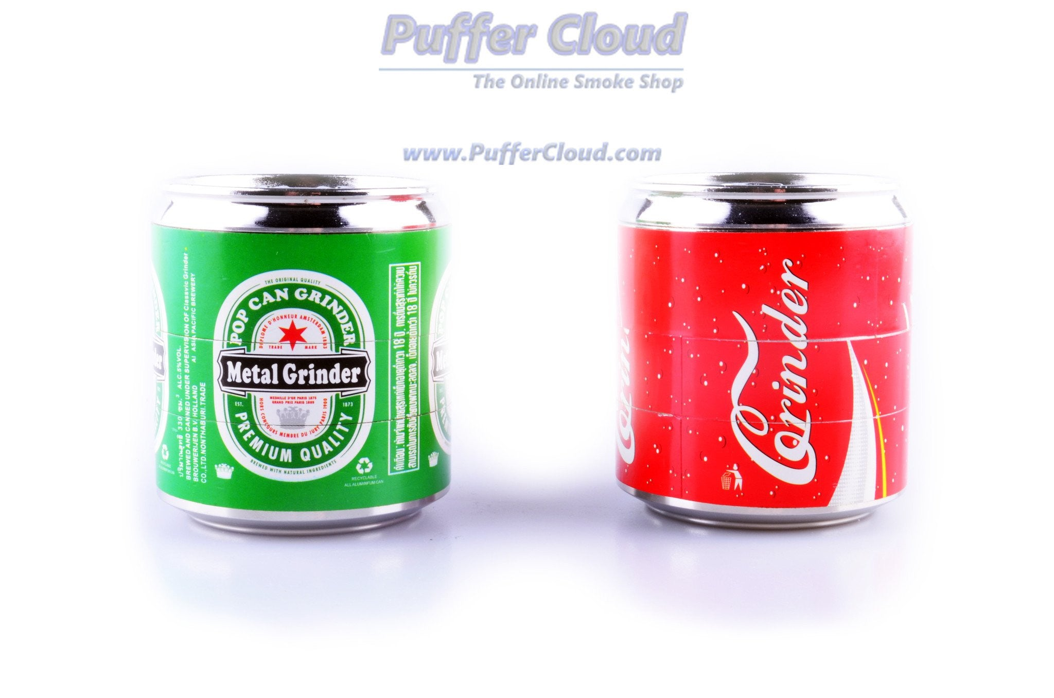 Metal Pop Can Grinder - Puffer Cloud | The World's Best Online Smoke and Head Shop
