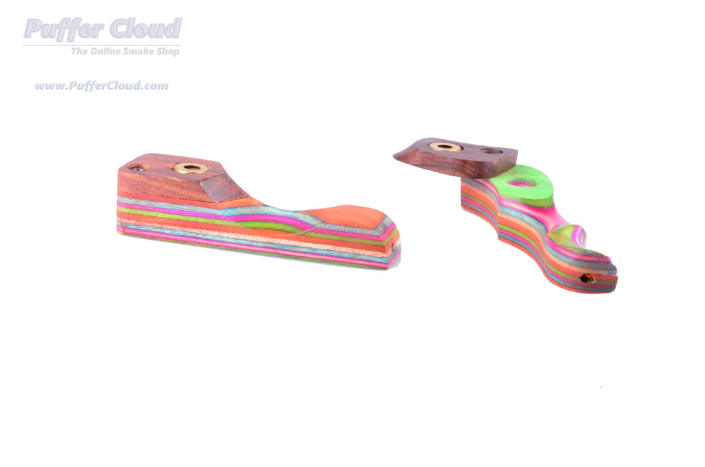 "3.5"" Wooden Rainbow Hand Pipe - Puffer Cloud 