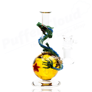 Dragonball Z Themed Mini Rig Water Pipe By Empire Glassworks - Puffer Cloud | The World's Best Online Smoke and Head Shop
