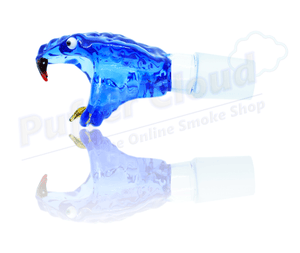 Glass Snake Head Bowl Piece - Puffer Cloud | The World's Best Online Smoke and Head Shop