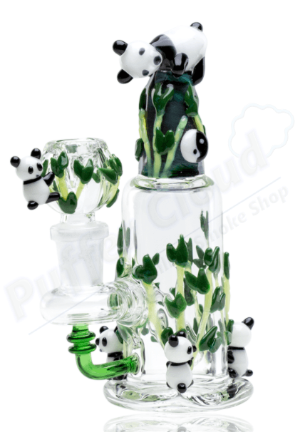 Panda Family Dry Herb Nano Rig By Empire Glassworks - Puffer Cloud | The Online Smoke Shop