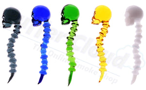 Glass Skull & Spine Dabber Tool / Carb Cap - Puffer Cloud | The Online Smoke Shop