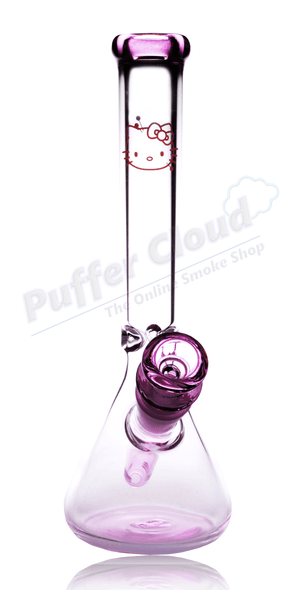 "10"" Hello Kitty Themed Beaker Water PipeWater PipePuffer Cloud - Puffer Cloud 