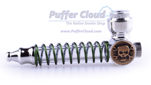 "4"" LED Light Up Skull PipeHand PipePuffer Cloud - Puffer Cloud 