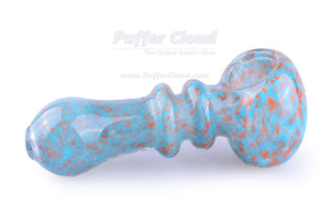 Mini Spoon Pipe With Blue Frit Design - Puffer Cloud | The Online Smoke Shop