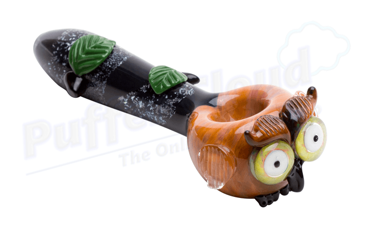 Owl Spoon Hand Pipe By Empire Glassworks - Puffer Cloud | The World's Best Online Smoke and Head Shop