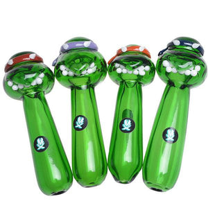 Glass Ninja Turtle Head Pipe By Mathematix - Puffer Cloud | The World's Best Online Smoke and Head Shop