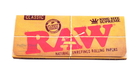 RAW - King Size Supreme Rolling Papers - Puffer Cloud | The Online Smoke Shop