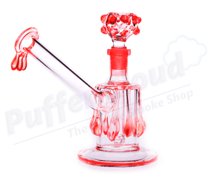 14mm Drippy Glass Bubbler - Puffer Cloud | The World's Best Online Smoke and Head Shop