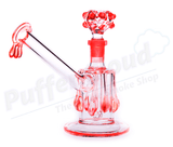 "9"" Acrylic Water Pipe w/ Built-In Grinder"