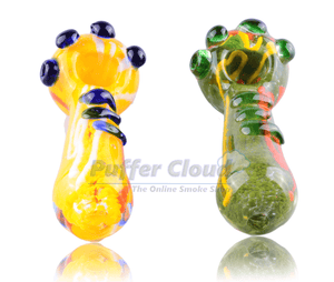 "4.5"" Marble Zigzag Spoon Pipe - Puffer Cloud 