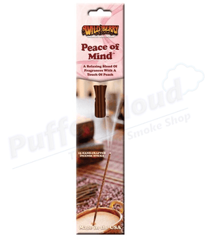 Peace Of Mind Incense Sticks By Wild Berry - 15 Pack - Puffer Cloud | The Online Smoke Shop