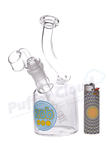 "ZOB 8"" Low Profile Dab Rig Bubbler - Puffer Cloud 