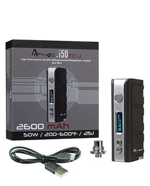 Atmos i50 TC-J 50W Box Mod w/ 2600mAh Battery - Puffer Cloud | The Online Smoke Shop