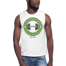White Ganja Gains Muscle Shirt By Puffer Cloud The Online Smoke Shop