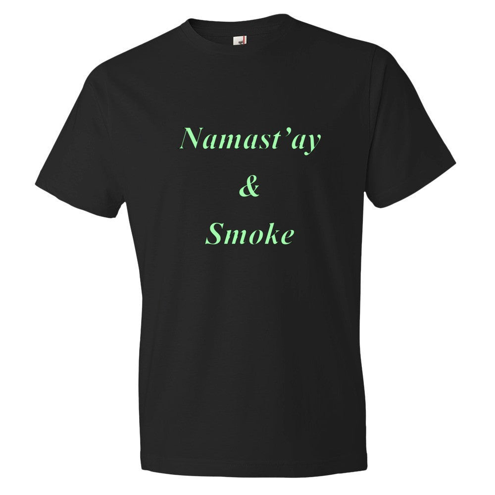 Men's Namast'ay & Smoke T-Shirt - Puffer Cloud | The Online Smoke Shop