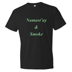 Men's Namast'ay & Smoke T-Shirt - Puffer Cloud | The World's Best Online Smoke and Head Shop