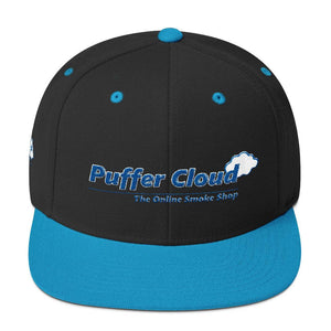 Puffer Cloud Embroidered Classic Snapback Hat - Puffer Cloud | The World's Best Online Smoke and Head Shop