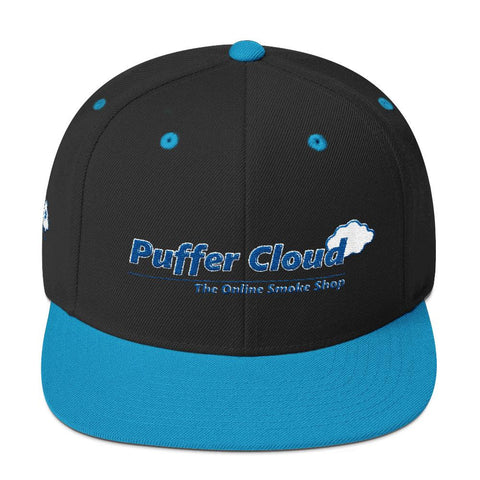 Puffer Cloud Embroidered Classic Snapback Hat - Puffer Cloud | The Online Smoke Shop