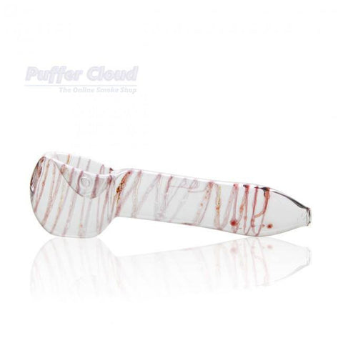"3"" Thin Peanut Glass Pipe - Puffer Cloud 