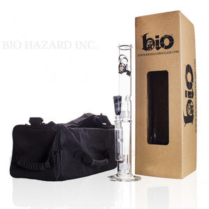 "18"" Bio Double Grid Water Pipe - Puffer Cloud 