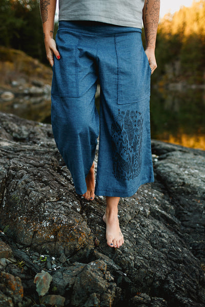Hemp Recycled Poly Pants - Weaver and Bine Prints