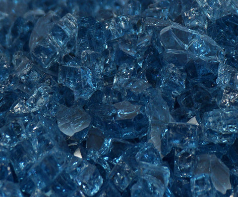 "1/2"" Blue Lagoon / Pacific Blue - Fireglass Crystals - Fire On Glass"