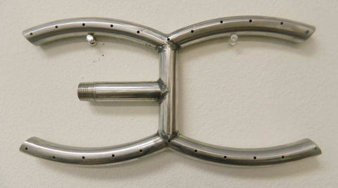 "Arc / H-Burner Stainless Steel 12"" to 36"" For Fireplaces and Fire Pits - Burners - Fire On Glass"