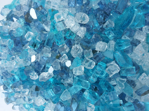 Caribbean Ice Mix - Fireglass Crystals - Fire On Glass