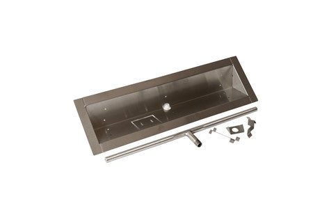 "Trough Pan with Lip 24"" to 72"" Length -  - Fire On Glass"