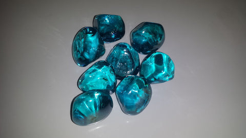 Aqua Diamonds - Diamonds - Ice Cubes - Fire On Glass