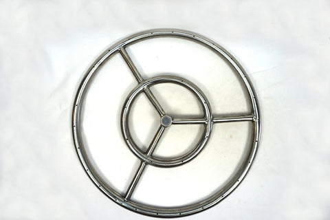 "Stainless Steel Ring Burner 6"" to 36"" for Fire PIts and Fireplaces - Burners - Fire On Glass"