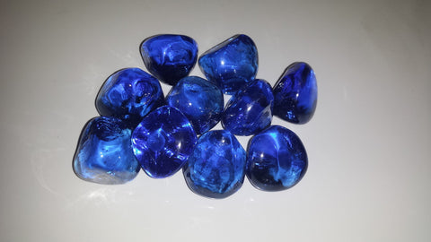 Dark Blue Diamonds - Diamonds - Ice Cubes - Fire On Glass