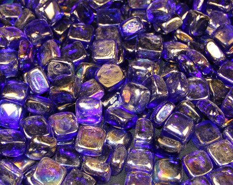 Dark Blue Ice Cubes - Diamonds - Ice Cubes - Fire On Glass