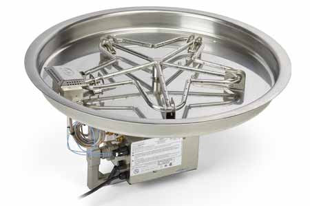 "Round Pan 13"" to 37"" Penta Burner -  - Fire On Glass"