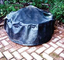 "35"" Black Vinyl Fire Pit Cover - Fire Pit Covers - Fire On Glass"