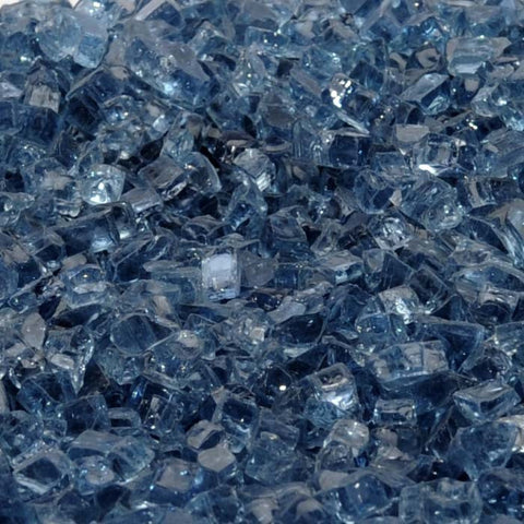 "1/4"" Blue Lagoon / Pacific Blue - Fireglass Crystals - Fire On Glass"