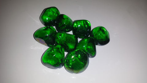Green Diamonds - Diamonds - Ice Cubes - Fire On Glass