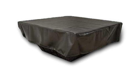 "Square Vinyl Fire Pit Cover 36"" to 60"""