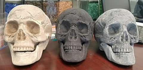 Fireplace Ceramic Fiber Skulls -  - Fire On Glass
