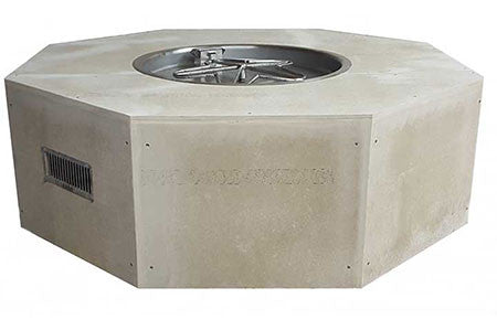 "45"" Octagon Unfinished Enclosure and 25"" Fire Pit Insert. -  - Fire On Glass"