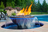 Copper Cyprus Bowl - H20 Fire On Water -  - Fire On Glass