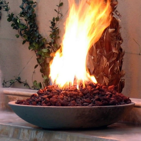 Low Profile Wok Stone Fire Bowl -  - Fire On Glass