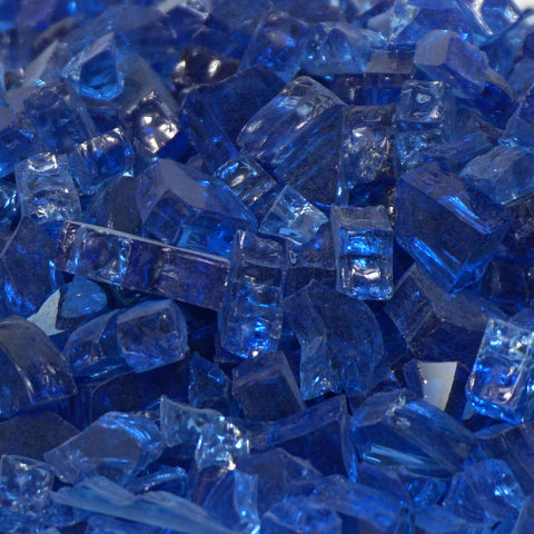 "1/4"" Royal Blue / Cobalt Blue - Fireglass Crystals - Fire On Glass"