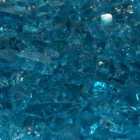"1/4"" Caribbean Blue / Azuria - Fireglass Crystals - Fire On Glass"