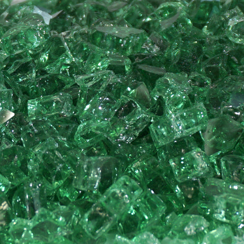 "1/4"" Rainforest Green - Fireglass Crystals - Fire On Glass"