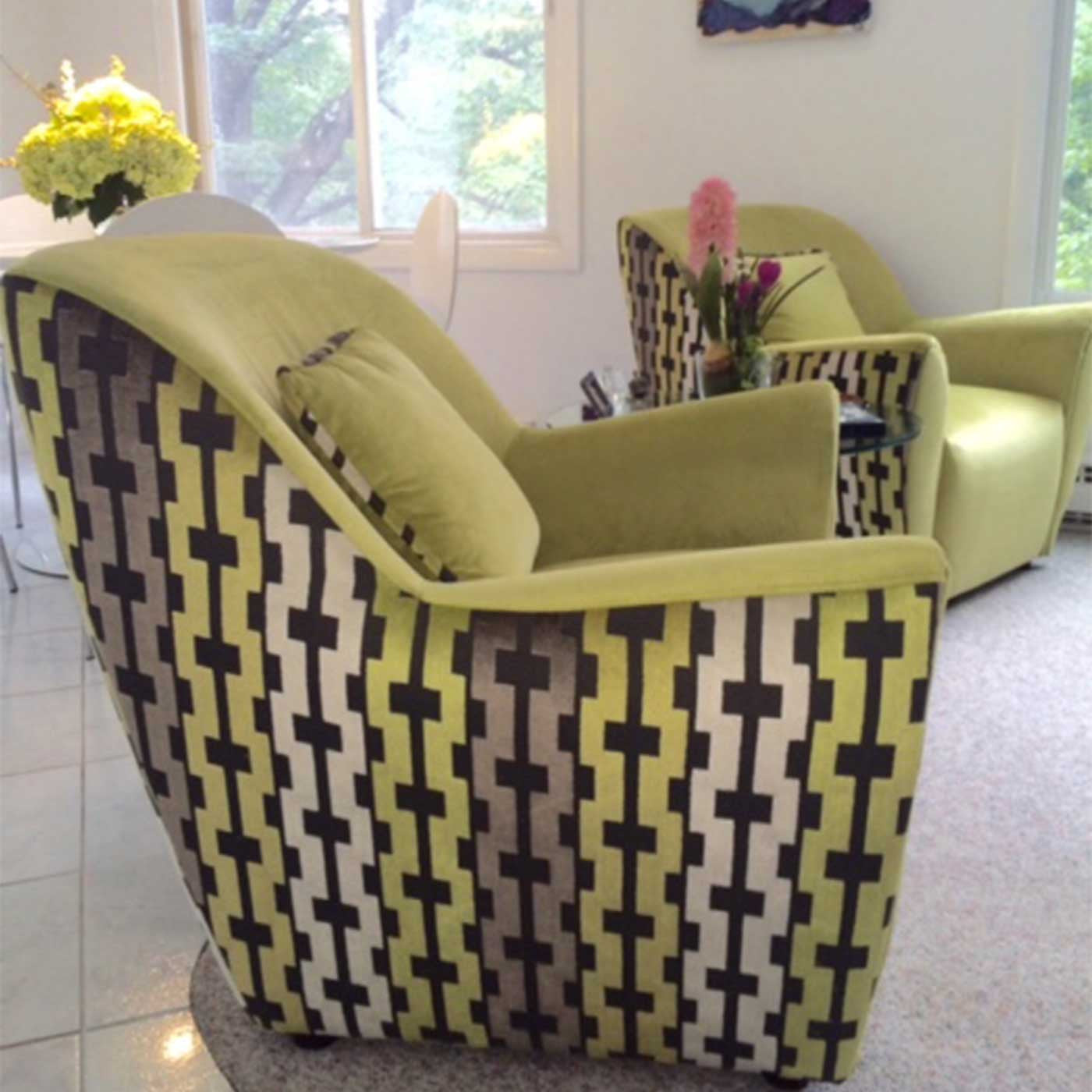 Upholstery Fabric Projects - Before and After - Donna